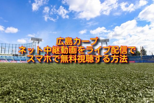 広島カープのライブ中継の無料視聴方法