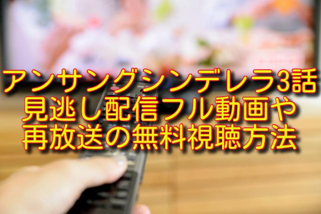アンサングシンデレラ3話動画の無料視聴方法
