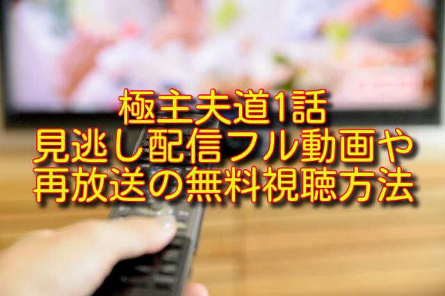 極主夫道1話動画の無料視聴方法