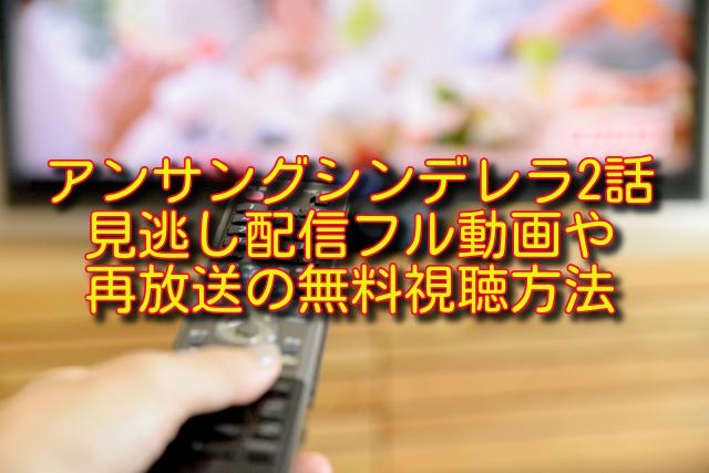 アンサングシンデレラ2話動画の無料視聴方法