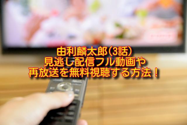 由利麟太郎3話動画の無料視聴方法