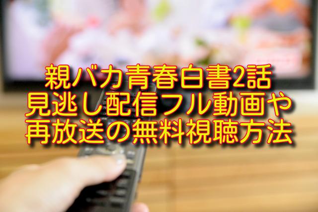 親バカ青春白書2話動画の無料視聴方法